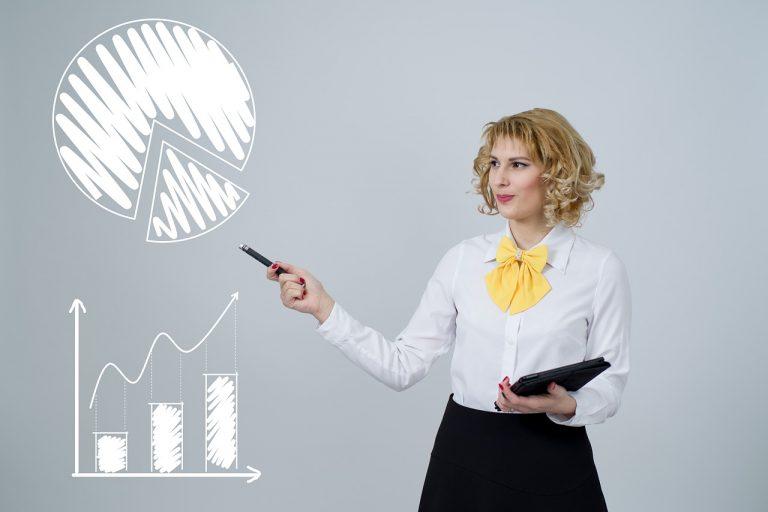 Kvinna jämför bästa fonderna